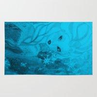 frozen elsa Area & Throw Rugs featuring Frozen Elsa by ALynnArts