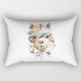 + Watercolor Alpaca + Rectangular Pillow