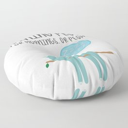 I Don't Like Morning People Or Mornings Or People Introvert Gift Floor Pillow