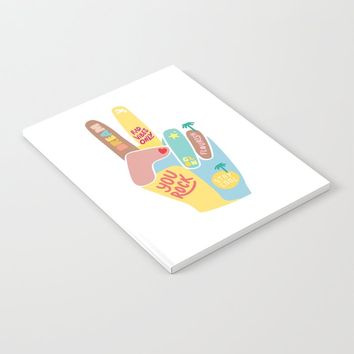 Motivational Peace Fingers Notebook