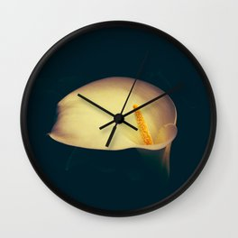 White Calla Wall Clock