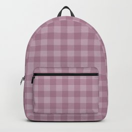 Pink gray simple plaid patterns . Backpack