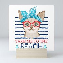 Beach Chihuahua Mini Art Print
