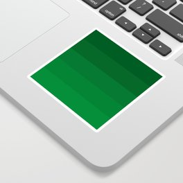 Rich Forest Evergreen Stripes Ombre Sticker
