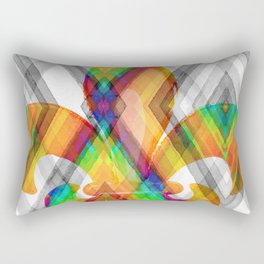 Fleur De Lis Diamond Pattern Rectangular Pillow