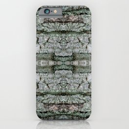 Maple Bark & Lichen - Old Mossy Maple Tree Bark - Natural Patterns iPhone Case