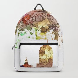 Fresno, California Skyline - Faded Glory Backpack