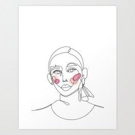 rose in every cheek Art Print