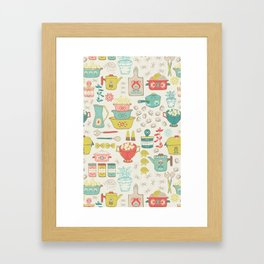 Pasta & Vintage dishes Framed Art Print