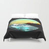 camp Duvet Covers featuring Pac camp by carbine