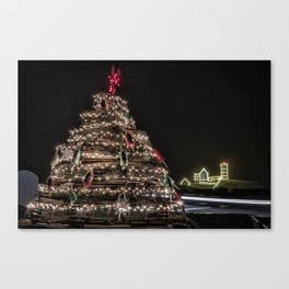 Lobster trap tree at the Nubble Lighthouse Canvas Print