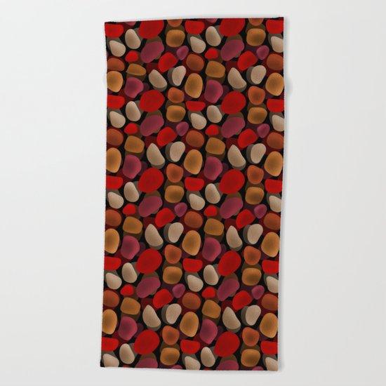 Abstract pattern . Sea stones .2 . Beach Towel
