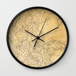 Map of Zhili and Shandong, China (c1855-1870) Wall Clock