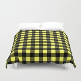 Plaid (Black & Yellow Pattern) Duvet Cover