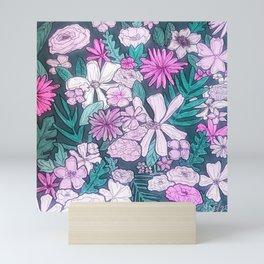 field of flowers Mini Art Print
