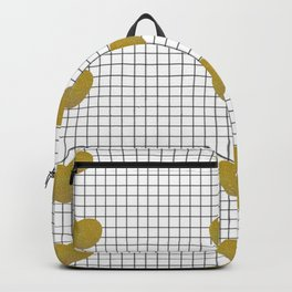 Gold Hearts and Grid Backpack