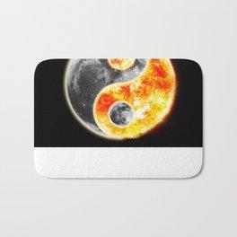Sun Moon Day and Night Ying Yang Bath Mat