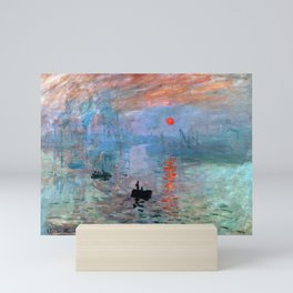 Iconic Claude Monet Impression, Sunrise Mini Art Print