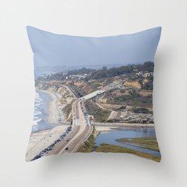 Pacific Coast Highway, California Throw Pillow