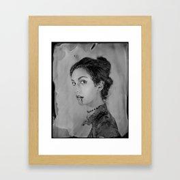 Classic Portrait of a Vampire - 8x10 Tintype Photo Framed Art Print