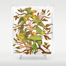 The extinction of the Carolina Parakeet. Shower Curtain