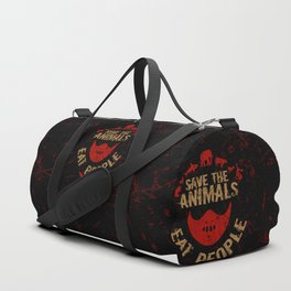 save the animals,eat people Duffle Bag