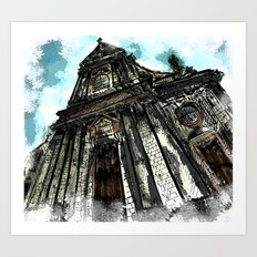 Saint George Church in Locorotondo (Italy) Art Print