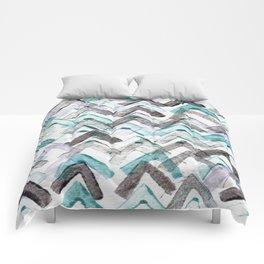 ZigZag Blue Comforters
