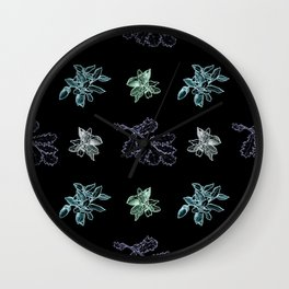 Quercus (black, green) Wall Clock