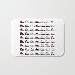 Air Jordan Series Collection 1-14 Bath Mat
