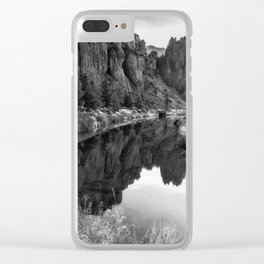 Smith Rock Morning Glow bw Clear iPhone Case