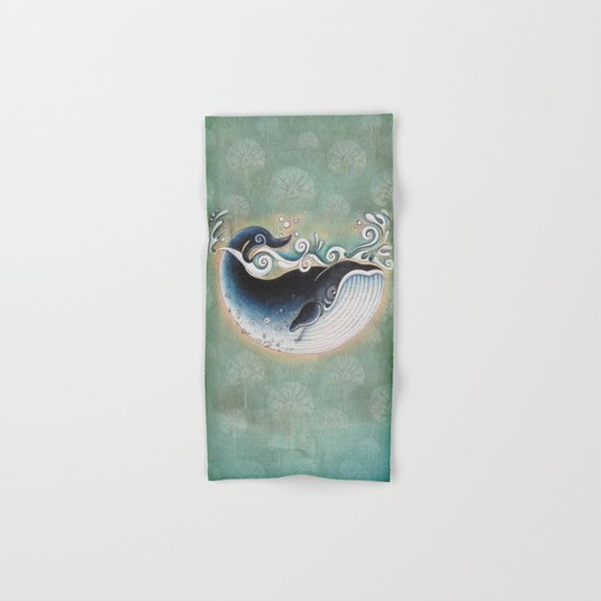 the Blue Whale Hand & Bath Towel