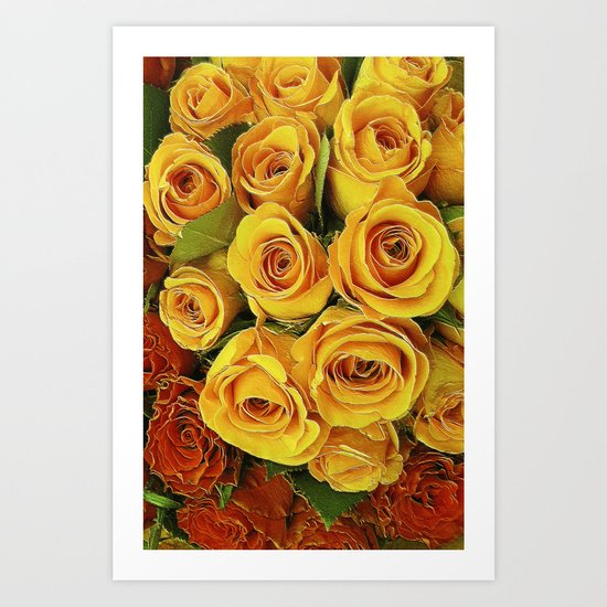 A Case of LOVE! (hot roses) Art Print
