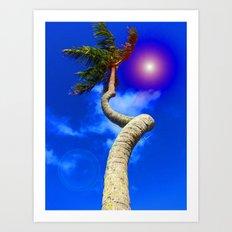 Screwy Palm Art Print