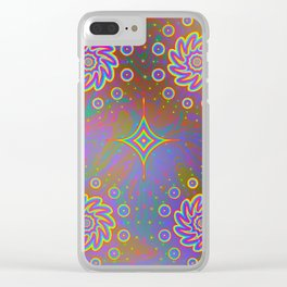 Psychadelic Pattern Clear iPhone Case