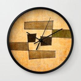 Protoglifo 03 'brown dance' Wall Clock