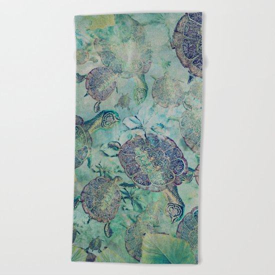 Watery Whimsy Beach Towel