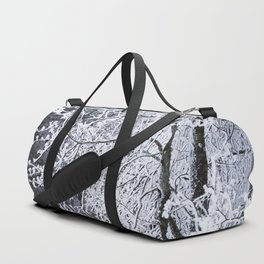 Snowy Tree Branches Winter Scene #decor #society6 #buyart Duffle Bag