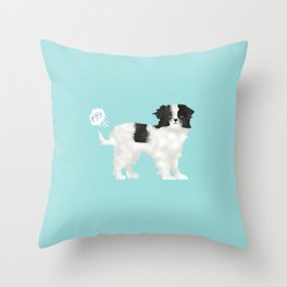 japanese chin farting dog cute funny dog gifts pure breed dogs Throw Pillow