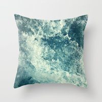dear Throw Pillows featuring Water I by Dr. Lukas Brezak