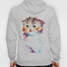 Happy Cat Watercolor Hoody