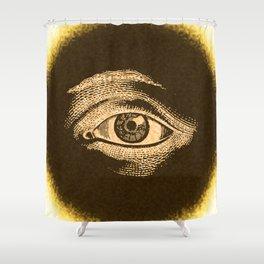 Grunge Vintage Eye Pattern Industrial Shower Curtain
