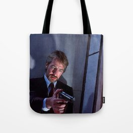 Painting Illustration Of Hans Gruber From The Movie Die Hard Tote Bag