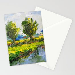 Dutch polderlandscape with willows Stationery Cards