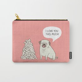 Pug's love Carry-All Pouch