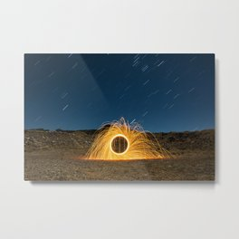 Sparks and Stars Metal Print
