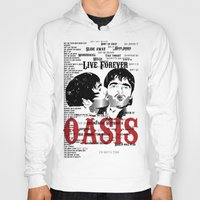 oasis Hoodies featuring Oasis by Colo Design
