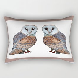 The Owl Collection - Barn Owl Rectangular Pillow