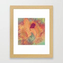 Diving Framed Art Print