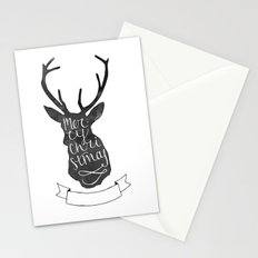 Merry Christmas Deer (3) Stationery Cards